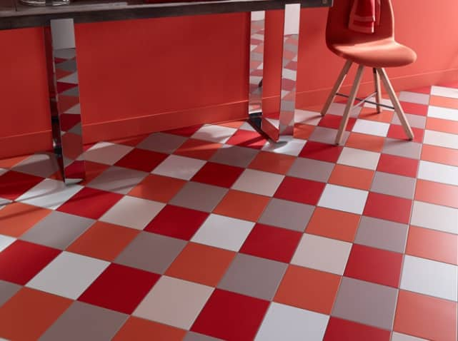 Carrelage castorama le blog sagne cuisines for Carrelage rouge