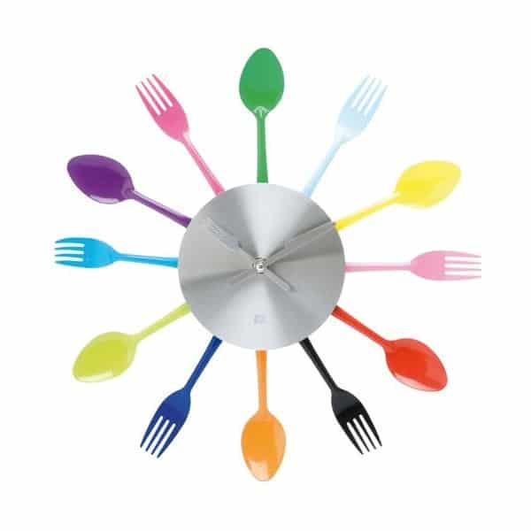 Une cuisine l 39 heure avec une belle horloge for Horloge couvert