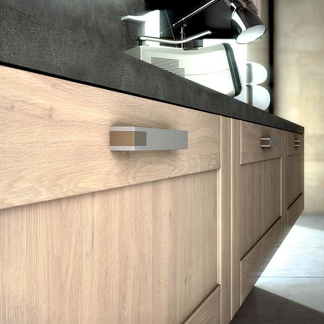 Cuisine bois moderne archives le blog sagne cuisines - Cuisine facade bois ...