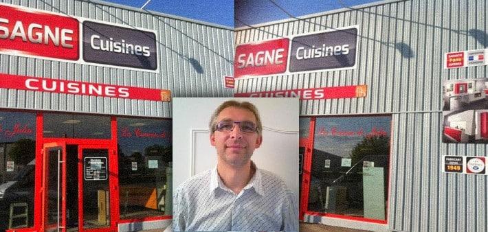 La nouveau magasin SAGNE Cuisines de Cédric del Sordo