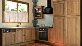 Détails de la cuisine bois classique Aiguebelle