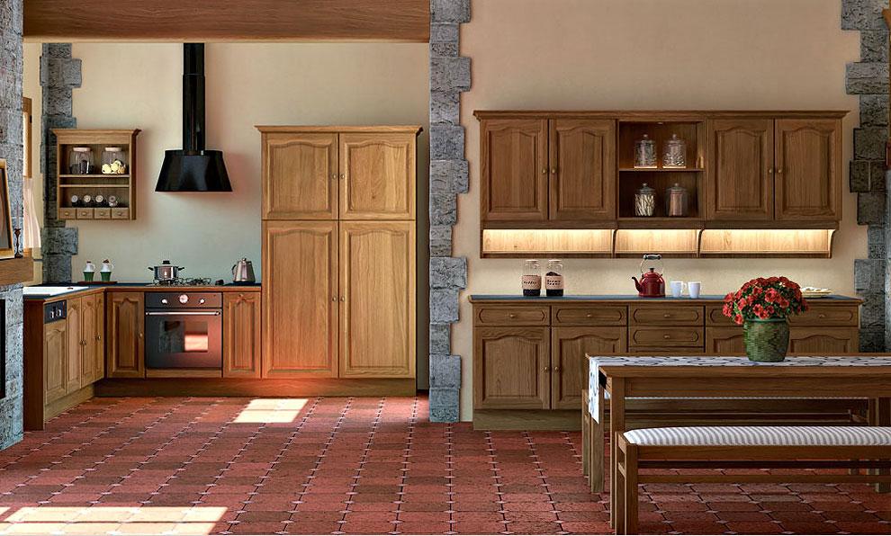 cuisine bois classique aiguebelle sagne cuisines. Black Bedroom Furniture Sets. Home Design Ideas