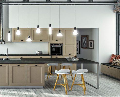 luminaire au dessus d un ilot luclairage dcoratif. Black Bedroom Furniture Sets. Home Design Ideas