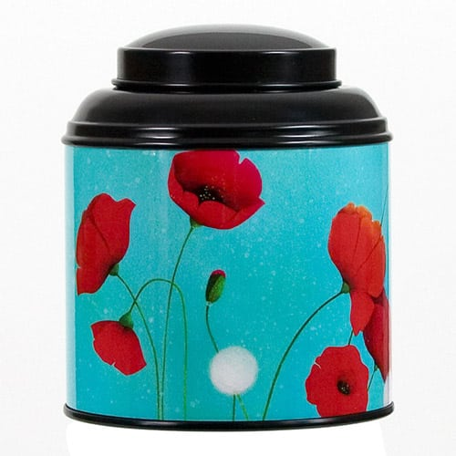 Boîte à thé - Coquelicots