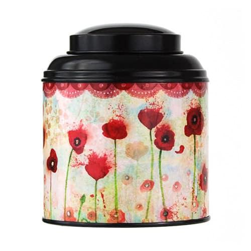 Boîte à thé aux coquelicots