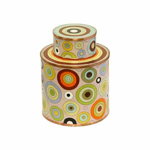 Boîte à thé par Fabienne Jouvin cercles