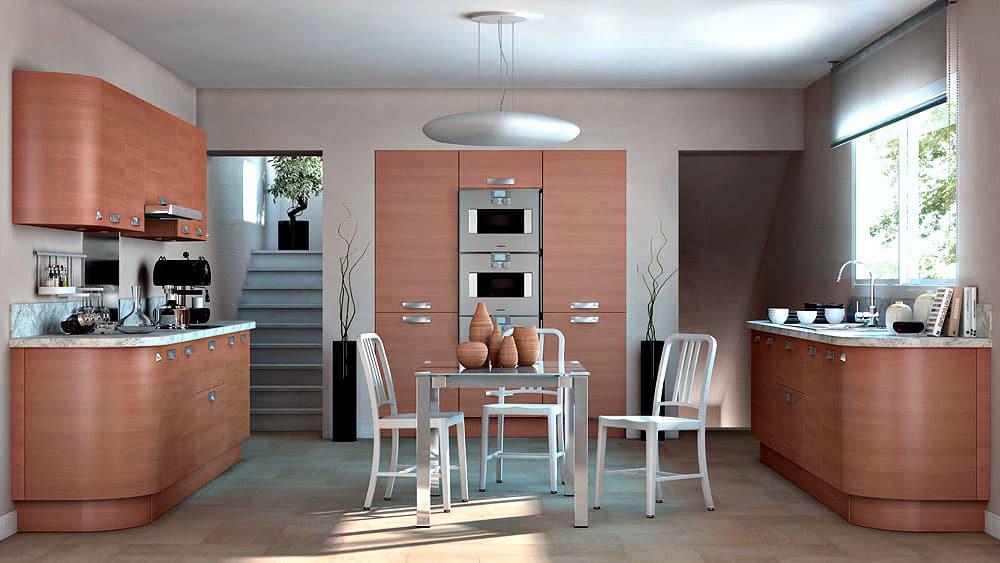 Cuisine bois moderne askoia 1 par sagne cuisines for Meuble de cuisine en bois moderne