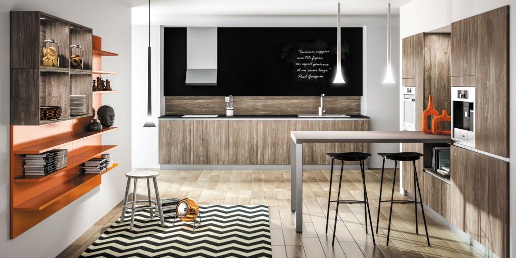 Parquet en bois dans la cuisine le blog sagne cuisines for Parquet dans la cuisine