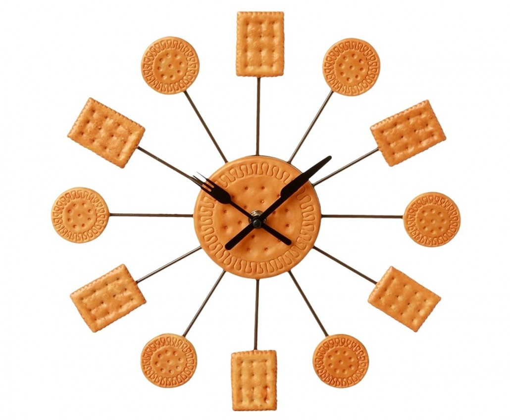 Horloge de cuisine simple pendule heure murale horloge - Pendule murale design inox ...