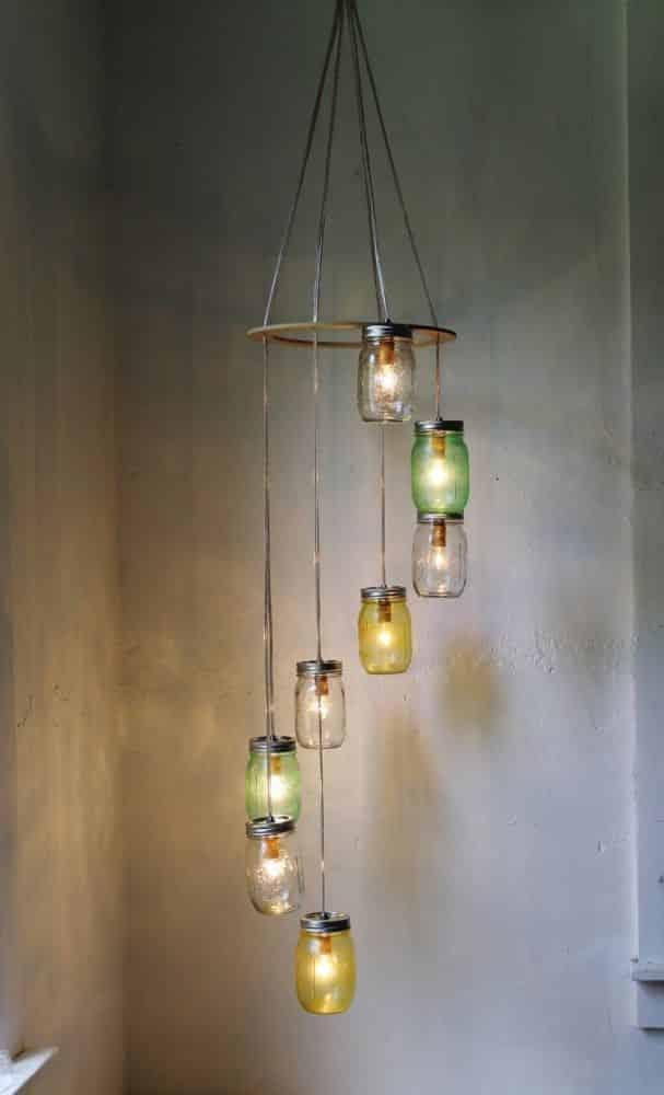 id es diy d co vieux objets recycl s suspension bocaux le blog sagne cuisines. Black Bedroom Furniture Sets. Home Design Ideas