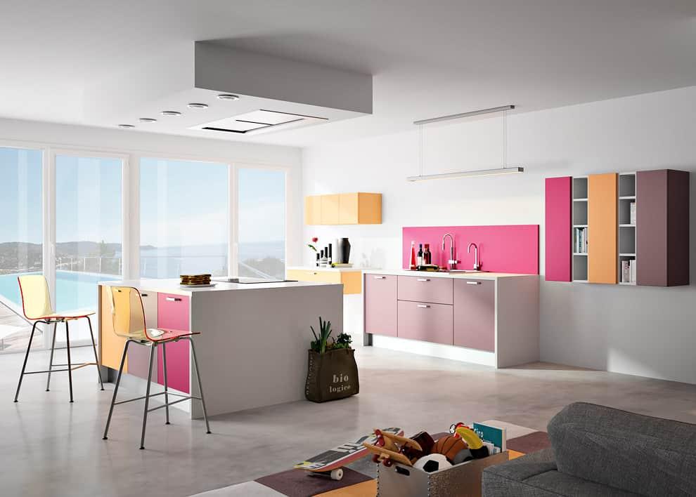 cuisine contemporaine linxia par sagne cuisines. Black Bedroom Furniture Sets. Home Design Ideas