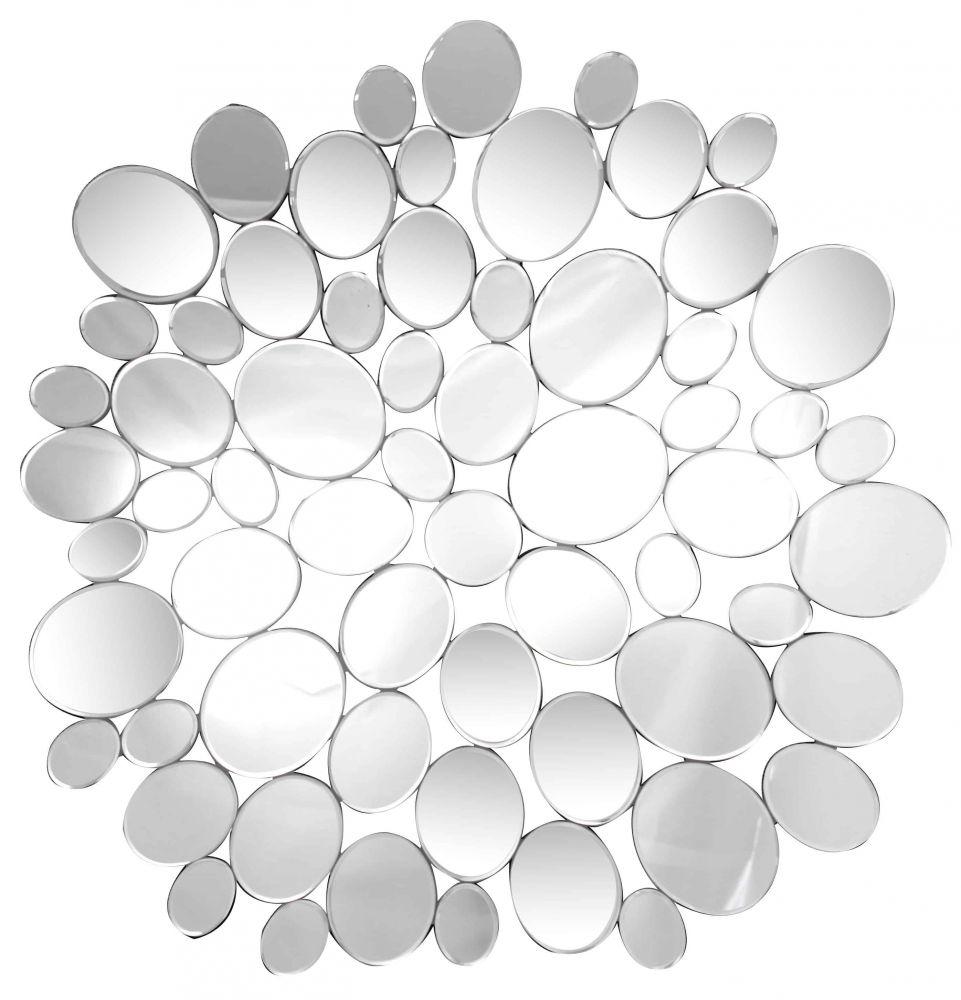 Miroir moderne rond design galets 116 cm 30 le blog for Miroir rond design