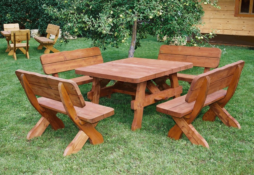 Beautiful Table De Jardin Bois Rustique Photos - House Design ...