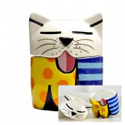 Set sel/poivre - Le chat par Romero Britto