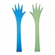 Set de couverts design vert-bleu