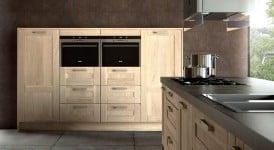 Détail de la cuisine bois moderne Truro